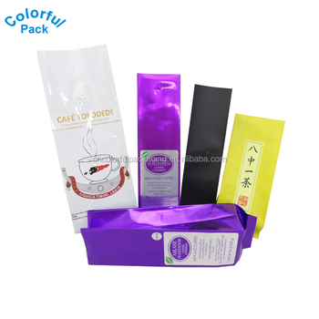 China wholesale custom printing aluminum foil coffee bags packaging pouch with valve
