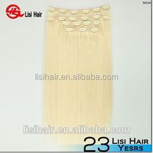 Unprocessed 8A Malaysian Hair,double wefted 150g remy clips hair extensions free sample