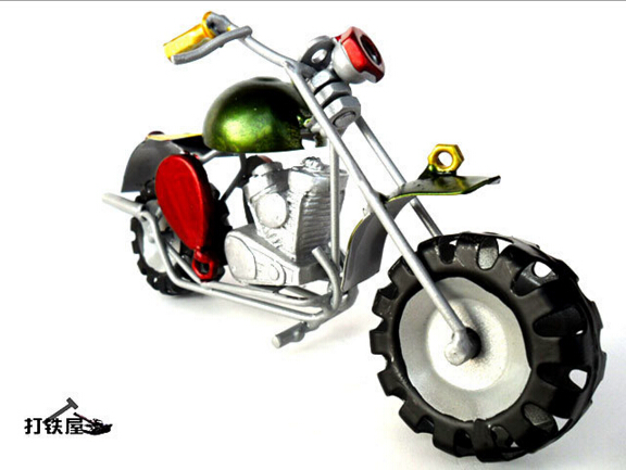 Home decoration iron motorcycle model toys