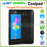 "Unlocked Android 4.2 WCDMA+GSM Bluetooth MTK6572 Dual core 4"" Coolpad smartphone"
