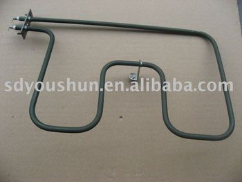 tubular heating element for microwave oven