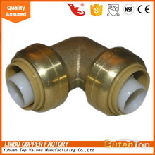 LB-GutenTop b2c online shopping lead free brass push-fit fitting coupling with 90-Degree Elbow