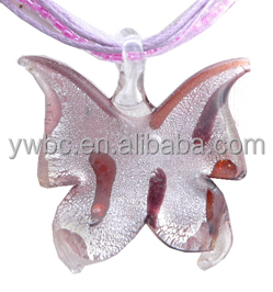 animal murano glass butterfly pendant (LMNB-1036)