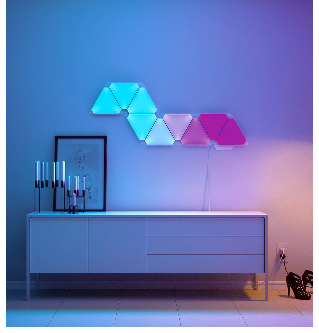 Nanoleaf Light Panels Smarter Kit Rhythm Edition Color Changing work with Amazon Alexa Homekit and Google Assistant