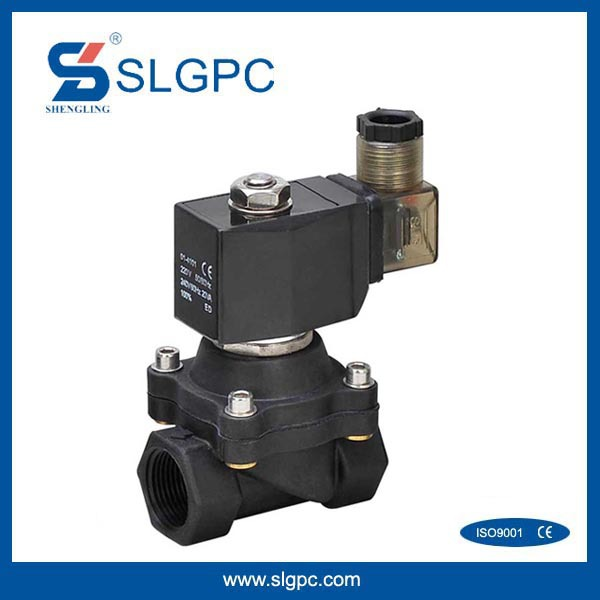 2 way 2 position plastic steel type normal close direct drive solenoid vale SLGPC-2P200-20
