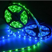 12volt 5050 pvc led strip light 60led per meter rgb red blue white color change flex strip light decorate for indoor outdoor