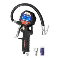 digital air pressure gauge tire inflator with gauge with chuck for truck tyre
