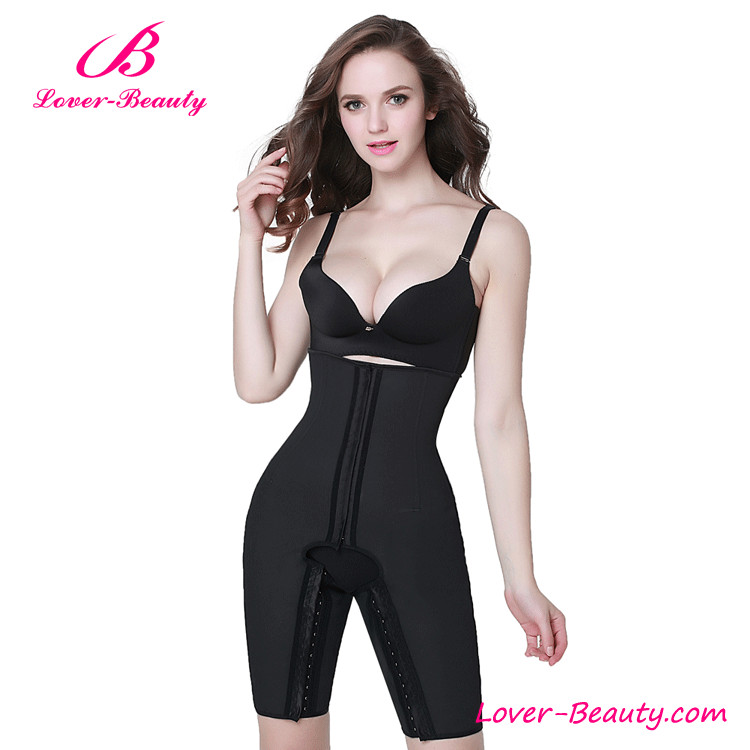 Black Plus Size Strapless Full Body Shaper Latex Waist Cinchers Wholesale