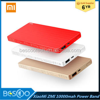 Original Xiaomi Zmi Power Bank 10000mAh New Mobile Powerbank MI Portable Charger 10000 mAh External Battery Pack Charge Treasure