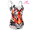 Young girl tiger pattern 2016 bathing suits for sport