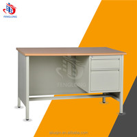 Steel office desk with locking drawers /metal furniture executive office table used computer desk