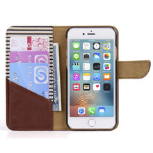 Wholesale Mobile Phone PU Leather Flip Cover Wallet Case for iPhone 7