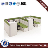 Melamine with cabinet two seat workstation office partition (HX-4PT019)