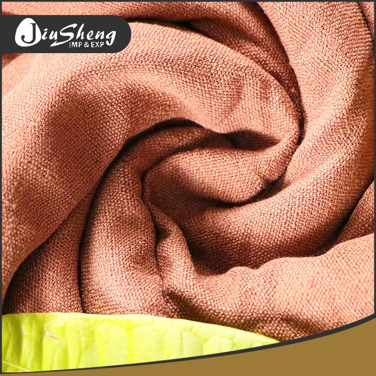 New design fashion wholesale soft woven bulk linen fabric for curtain