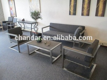 Stainless steel sofa set, garden furniture