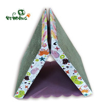 Triangle corrugated cat scratcher toy board of eco friendly pet products