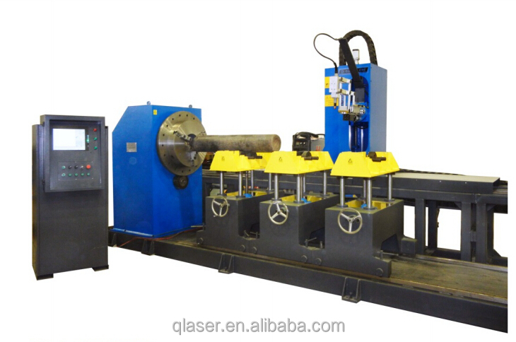 cnc automatic plasma flame metal aluminum pipe cutting machine