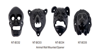 New Animal Head Magnetic Cap Catcher Beer Bottle Openers