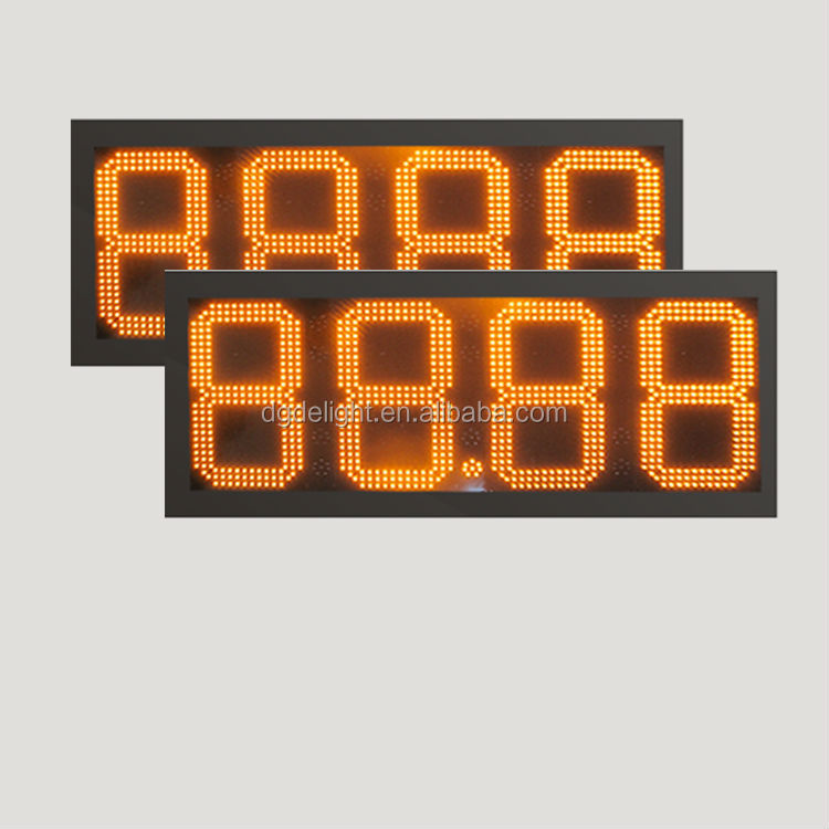 outdoor led clock time date temperature sign/ led outdoor gas station signs/ 14 segment display