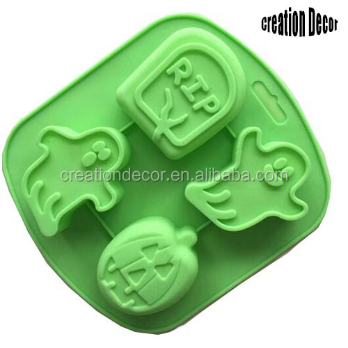 Halloween ghost pumpkin silicon cake molds silicone baking mould