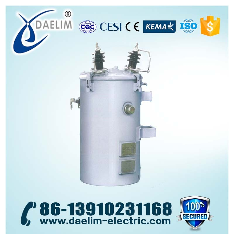 High Reliability 125KVA 6KV Single Phase Oil Immersed Cold-rolled Steel Sheets Power Transformers