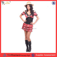 PGWC-1883 red black sexy farm girl costume halloween costume