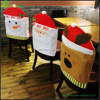 Lovely Christmas Reindeer Felt Chair Cover Snowman christmas cheap chair cover for home decoration BGSY1061