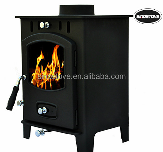 CE free standing stainless steel wood burning stoves/ smokeless wood stoves
