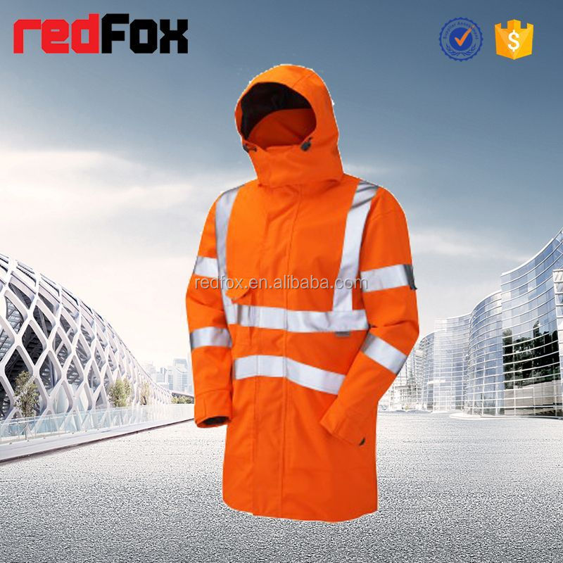high visibility reflective safety winter coat abaya