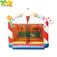 Candy house jumping castles cheap inflatable slides for sale
