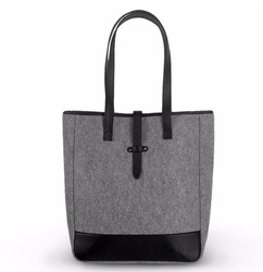 wholesale shoulder tote bag felt with handle for woman