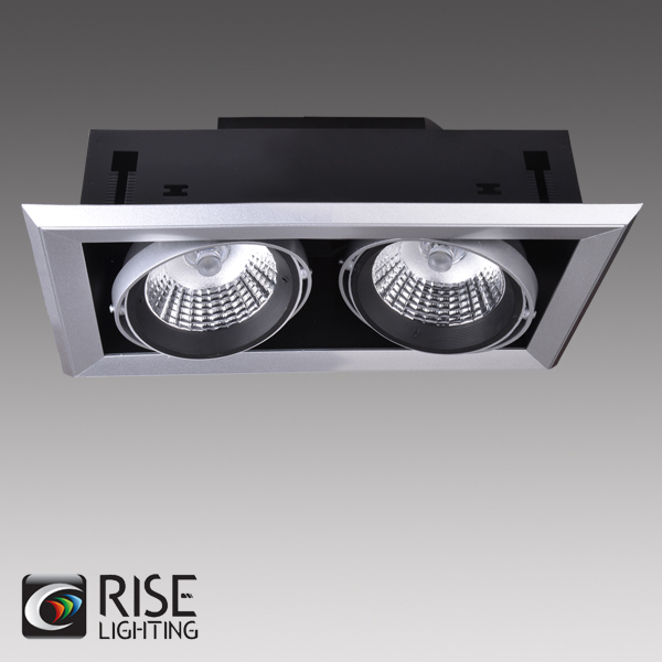 ETL listed 120V new construction 3 heads LED recessed multiple light