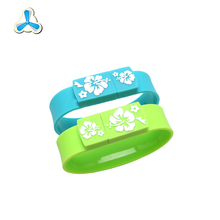 wholesale custom silicone usb bracelet , usb flash drives wristbands