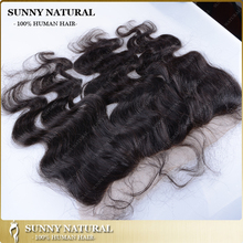 16inch human hair lace frontal closure 13x4 body wave malaysia virgin hair round full lace frontal with baby hair