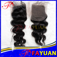 Wholesale price indian hair top closure cheap free and middle parting swiss lace closure 4''x4''