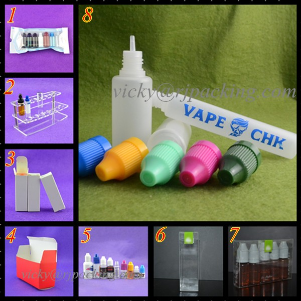 PE bottle 10ml 15ml 20ml 30ml 50ml unicorn /pen Plastic Dropper Bottles E Vapor Cig Liquid bottle