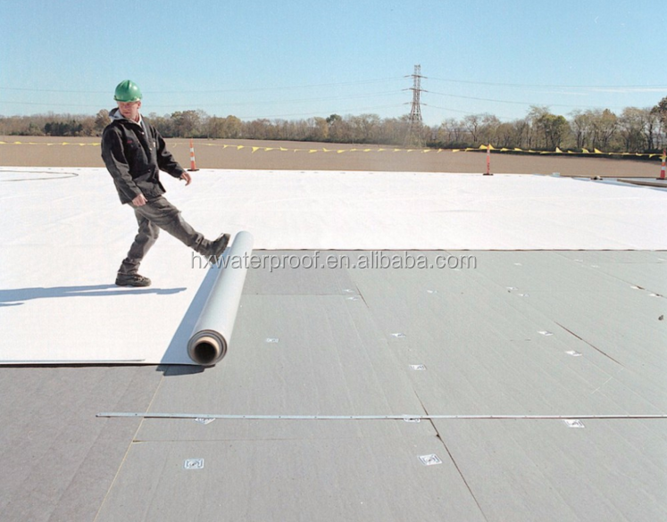 PVC heat resistant waterproofing roof membrane