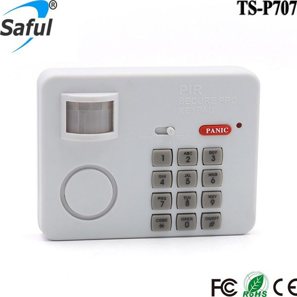 Factory price independent wireless PIR with keypad for home <strong>security</strong>