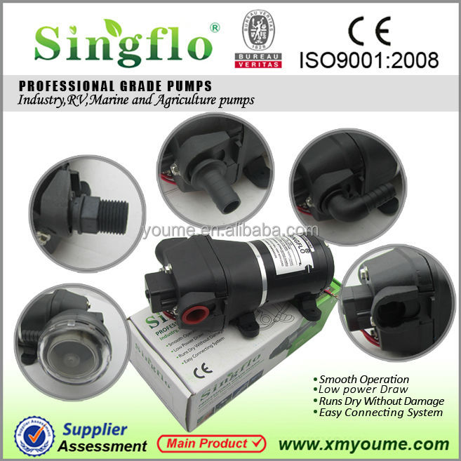 SINGFLO 12v dc yacht diaphragm high flow pump for marine FL-40