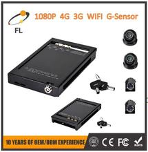 4 channels Mini 1080P hard drive and SD Card panoramic car dvr support WIFI