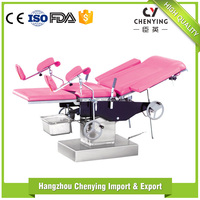 Electric gynecological operating table medical examination obstetric equipments delivery bed