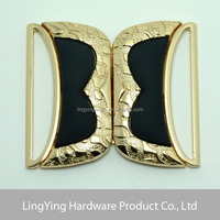 High-class popular metal side release buckle,flat buckle belt