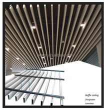 Square Tube White/ Wood Color baffle ceiling system