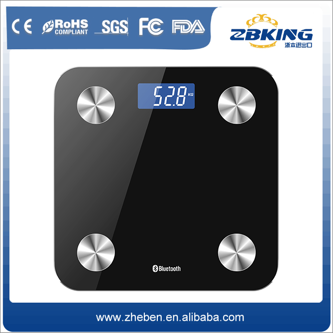 LED/LCD digital weighing scale bluetooth electrical bathroom scale