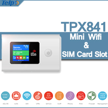 New Arrival TPX841 Protable Mobile Mini Wireless Router With SIM Card Slot