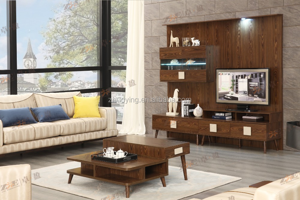 MODERN TV STAND FURNITURE LIVING ROOM LED TV TABLE DESIGN