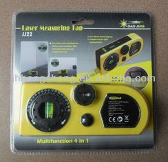 Laser spirit levels with calculator tape measure