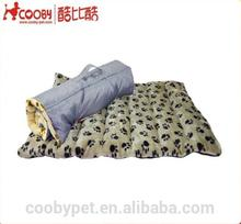 Comfort Plush Foldable Pawprint Travel Bed Waterproof Pet Dog Mat
