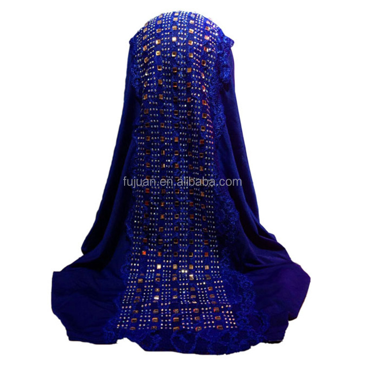Fashion rhinestone Islamic long muslim hijab scarf hijab 2017