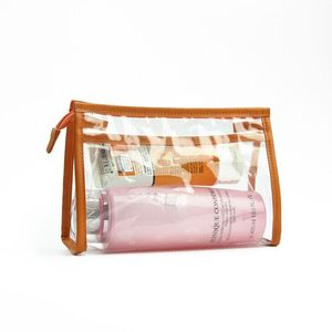Clear Cosmetic Wash Bags Waterproof PVC Pouch for Women and Men